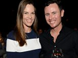 """INDIAN WELLS, CA - MARCH 19:  Actress Hilary Swank (L) and Ruben Torres attend The Moet and Chandon Inaugural """"Holding Court"""" Dinner at The 2016 BNP Paribas Open on March 19, 2016 in Indian Wells, California.  (Photo by Michael Kovac/Getty Images for Moet and Chandon)"""