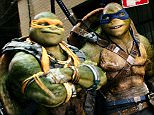 """This image released by Paramount Pictures shows, from left, Donatello, Michelangelo, Leonardo and Raphael in a scene from """"Teenage Mutant Ninja Turtles: Out of the Shadows."""" (Lula Carvalho/Paramount Pictures via AP)"""