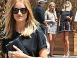 Malibu, CA - Blonde babe Rosie Huntington-Whiteley grabs a bite with friends at the exclusive celebrity hot spot Soho House. She showed off her long and famous legs wearing a colored patterned skirt with a black blouse and beige studded sandals.\nAKM-GSI       June 4, 2016\nTo License These Photos, Please Contact :\nMaria Buda\n(917) 242-1505\nmbuda@akmgsi.com\nsales@akmgsi.com\nor \nMark Satter\n(317) 691-9592\nmsatter@akmgsi.com\nsales@akmgsi.com