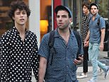 Mandatory Credit: Photo by Startraks Photo/REX/Shutterstock (5706308i) Miles McMillan, Zachary Quinto Zachary Quinto out and about, New York, America - 03 Jun 2016 Zachary Quinto leaving a restaurant with Joe Mantello after having dinner together and then waiting on a bench for boyfriend Miles McMillan