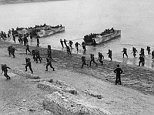 1943:  Troops coming ashore during training exercises for the Allied D-Day invasion.  (Photo by Keystone/Getty Images)