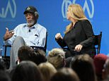 IMAGE DISTRIBUTED FOR PRODUCERS GUILD OF AMERICA - Mark Gordon, from left, Morgan Freeman and Lori McCreary speak at the 8th Annual Produced By Conference presented by Producers Guild of America held at Sony Picture Studios on Saturday, June 4, 2016, in Culver City, Calif. (Photo by Richard Shotwell/Invision for Producers Guild of America/AP Images)