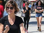 Picture Shows: Lisa Rinna, Amelia Hamlin  June 06, 2016\n \n Actress Lisa Rinna and her daughter Amelia Hamlin spotted out shopping in West Hollywood, California. Missing from the shopping trip was Lisa's other daughter Delilah.\n \n Exclusive All Rounder\n UK RIGHTS ONLY\n Pictures by : FameFlynet UK © 2016\n Tel : +44 (0)20 3551 5049\n Email : info@fameflynet.uk.com