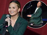 """LOS ANGELES, CA - JUNE 06:  Actress Chrissy Teigen speaks onstage during the """"Hillary Clinton: She's With Us"""" concert at The Greek Theatre on June 6, 2016 in Los Angeles, California.  (Photo by Kevin Winter/Getty Images)"""