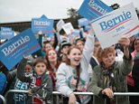 SAN FRANCISCO, CA - JUNE 06: Supporters cheer as  Democratic presidential candidate Senator Bernie Sanders (D-VT) addresses a crowd, estimated at more than 10,000 people, during a campaign rally at Chrissy Field in the Presidio on June 6, 2016 in San Francisco, California. The California primary is tomorrow, where most polls have Sanders and Hillary Clinton in an even race.  (Photo by Scott Olson/Getty Images)