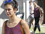 153282, EXCLUSIVE: Nina Dobrev picks up a friend on crutches in Santa Monica. Los Angeles, California - Monday June 06, 2016.   Photograph: © PacificCoastNews. Los Angeles Office: +1 310.822.0419 UK Office: +44 (0) 20 7421 6000 sales@pacificcoastnews.com FEE MUST BE AGREED PRIOR TO USAGE