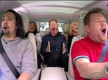 """7 June 2016 - Los Angeles - USA  **** STRICTLY NOT AVAILABLE FOR USA ***  James Corden hosts special Broadway edition of Carpool Karaoke on The Late Late Show. Corden prepared for his Tony Awards hosting gig in the best way possible with a special Broadway edition of Carpool Karaoke. He picked up four Broadway stars including Hamilton's Lin-Manuel Miranda, Shuffle Along's Audra McDonald, Fully Committed's Jesse Tyler Ferguson and She Loves Me's Jane Krakowski as he made his way to the Beacon Theater which hosts the Tony's on June 12. Corden had all four Broadway luvvies 'awwwing' when he suggested singing Seasons of Love from the musical Rent. ìHang on. Hang on, wait. That was the most Broadway response to hearing an opening of a song,î Corden said as he put the music on.  There was also a rousing rendition of Can't Take My Eyes Off You before Corden asked Ferguson and Krakowski, who both star in hit TV shows, which they preferred: """"Theater or money."""" Diplomatically, Ferguson, with th"""