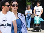 New York, NY - Rose Byrne and Bobby Cannavale take baby son Rocco for a walk along the streets of Manhattan. Bobby wore a cool looking white tee with famous director Martin Scorsese's face on it.\nAKM-GSI          June 6, 2016\nTo License These Photos, Please Contact :\nMaria Buda\n(917) 242-1505\nmbuda@akmgsi.com\nsales@akmgsi.com\nor \n Mark Satter\n (317) 691-9592\n msatter@akmgsi.com\n sales@akmgsi.com\n www.akmgsi.com