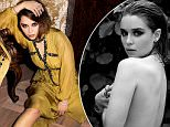 Emilia Clarke  Game of Thrones' Emilia Clarke Poses Topless in Sexy Violet Grey Photo Shoot