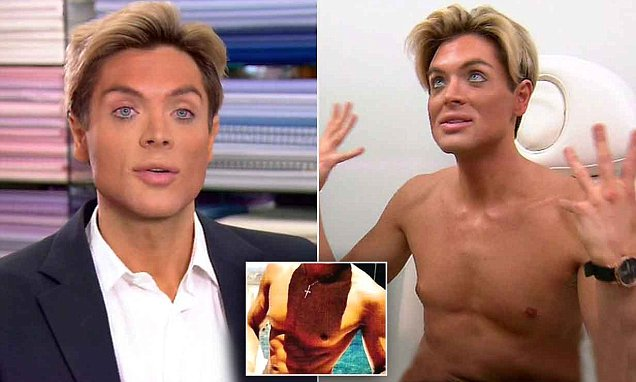 Brazil's human Ken doll Mauricio Galdi wants to have FOUR RIBS removed