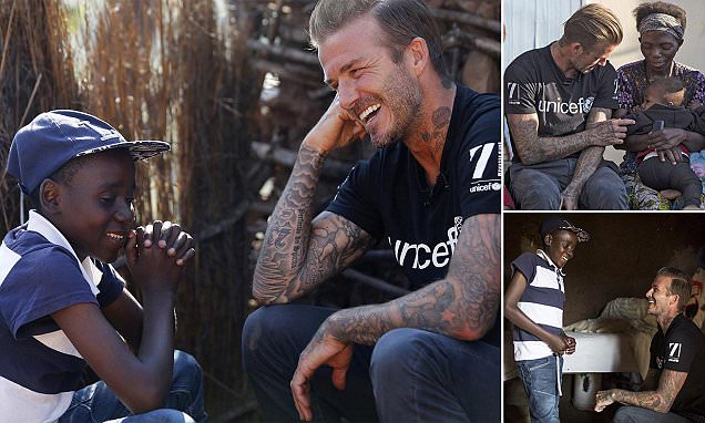 David Beckham reveals his heartache as he brings joy to children the same age as his own