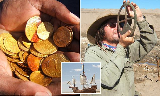 Diamond miners in Namibia find 500-year-old shipwreck loaded with £9m of gold