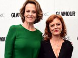 Susan Sarandon (right) and Sigourney Weaver in the press room at the Glamour Women of the Year Awards 2016, Berkeley Square Gardens, London. PRESS ASSOCIATION Photo. Picture date: Tuesday June 7, 2016. Photo credit should read: Ian West/PA Wire