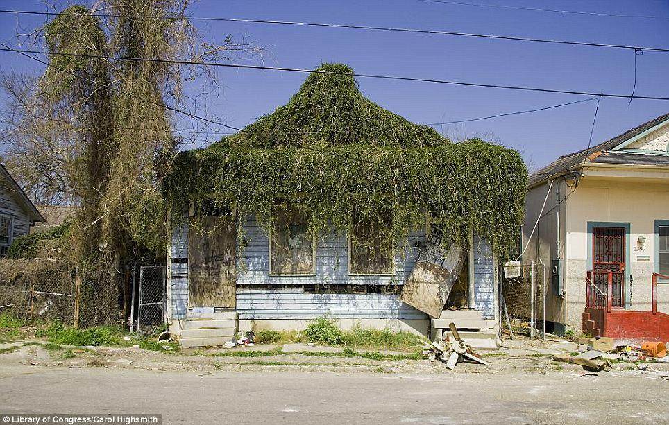 Destruction: A New Orleans house damaged during Hurricane Katrina in 2005