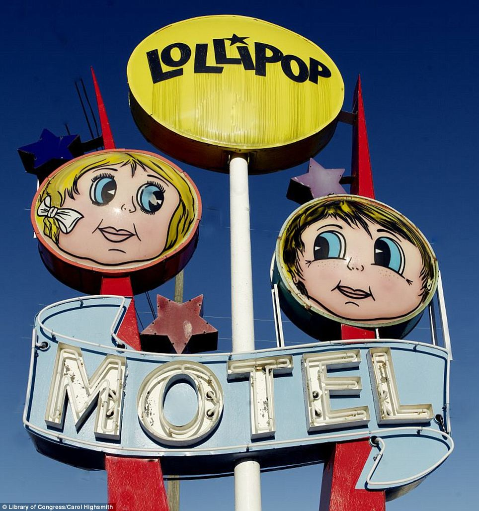 Drawing attention: A sign for the Lollipop Motel in Wildwood, New Jersey