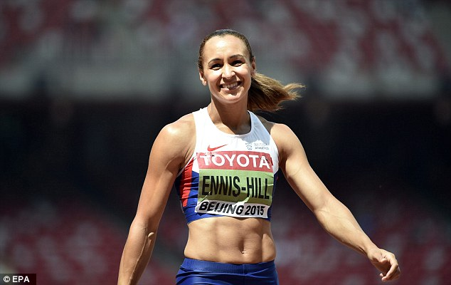 Jessica Ennis-Hill is all smiles as she secured gold at the World Championships in Beijing on Sunday