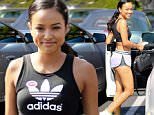 West Hollywood, CA - Karrueche Tran grabs lunch at Fred Segal in West Hollywood after voting in a pair of short shorts, an Adidas crop top and sneakers.\n \n AKM-GSI June 7, 2016\nTo License These Photos, Please Contact :\nMaria Buda\n(917) 242-1505\nmbuda@akmgsi.com\nsales@akmgsi.com\nor \nMark Satter\n (317) 691-9592\n msatter@akmgsi.com\n sales@akmgsi.com\n www.akmgsi.com\n