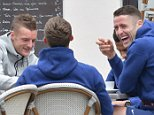 08.June.2016 - Chantilly - France Eric Dier, Jamie Vardy and Gary Cahill England football players relax at their base in Chantilly, France in preparation ahead of Euro 2016 Championships. *** AVAILABLE FOR UK SALE ONLY *** BYLINE MUST READ : E-PRESS / XPOSUREPHOTOS.COM ***UK CLIENTS - PICTURES CONTAINING CHILDREN PLEASE PIXELATE FACE PRIOR TO PUBLICATION *** **UK CLIENTS MUST CALL PRIOR TO TV OR ONLINE USAGE PLEASE TELEPHONE 0208 344 2007**