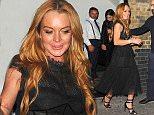Celebrities leaving Chiltern FireHouse in London Lindsay Lohan Guest  Ref: SPL1297490  070616   Picture by: Obinna / Splash News  Splash News and Pictures Los Angeles: 310-821-2666 New York: 212-619-2666 London: 870-934-2666 photodesk@splashnews.com