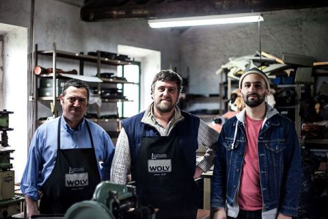 Pedro Fernandes with Luís & Pedro Caetano, the creatives behind Noise Goods