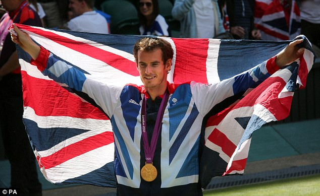 Impressive: Andy Murray beat Roger Federer in straight sets to become Olympic champion at Wimbledon