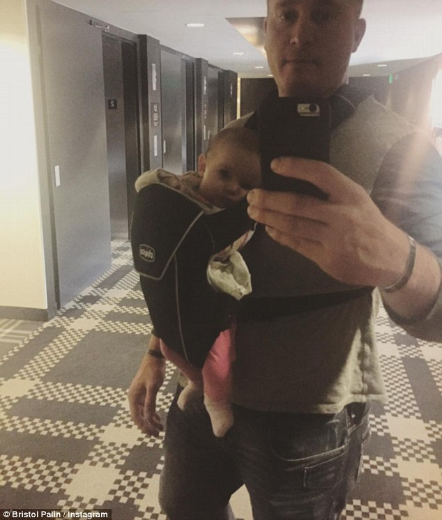 Doting dad: Bristol shared this image of Dakota with their daughter on her Instagram account in March in what appeared to be a gesture of goodwill following their custody battle