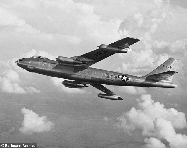 When the airplane gets to a certain point, it releases the bomb and the trajectory takes it in the parabolic arch to the target -- pulling the airplane up and roll it out of the danger zone. The B-47was built with a swept-wing design, a compact 100 10ft  body and speed were all key to performing ¿idiot loops¿. This B-47 took flight in 1963