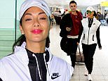 Nicole Scherzinger flies into the UK from Los Angeles dressed head to toe in Nike gear.\n\nPictured: Nicole Scherzinger\nRef: SPL1294368  080616  \nPicture by: Steve Bagness/Splash News\n\nSplash News and Pictures\nLos Angeles: 310-821-2666\nNew York: 212-619-2666\nLondon: 870-934-2666\nphotodesk@splashnews.com\n