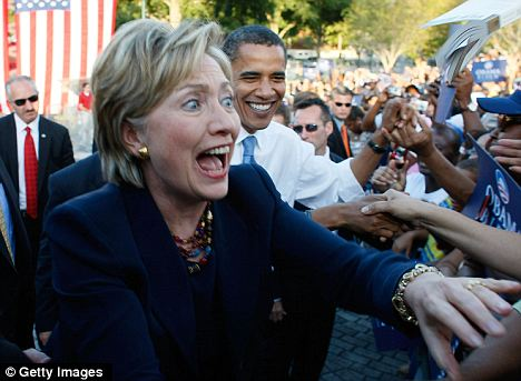 Possible ticket? Mrs Clinton silenced many critics during her time as Secretary of State, prompting theories that her popularity would help re-elect Mr Obama