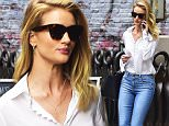 NEW YORK, NY - JUNE 08:  Rosie Huntington-Whiteley is seen in Soho  on June 8, 2016 in New York City.  (Photo by Alo Ceballos/GC Images)