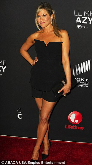 Publicity: Jennifer Aniston appeared on the red carpet with odd round marks covering her back