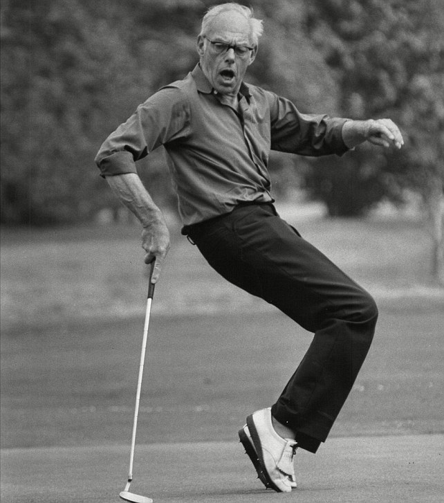 Dennis cultivated the image of a man for whom nothing mattered more than a round of golf and his next G&T