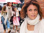 *EXCLUSIVE* New York, NY - Bethenny Frankel and her adorable daughter Bryn Hoppy seek shelter from the rain as they step out during a shower in NYC. 'The Real Housewives of New York City' star ducked down and planted a kiss on her girl as they walked to their awaiting ride.\nAKM-GSI          June 8, 2016\nTo License These Photos, Please Contact :\nMaria Buda\n(917) 242-1505\nmbuda@akmgsi.com\nsales@akmgsi.com\nor \nMark Satter\n(317) 691-9592\nmsatter@akmgsi.com\nsales@akmgsi.com\nwww.akmgsi.com