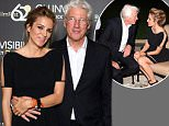ROME, ITALY - JUNE 08:  Alejandra Silva and actor  Richard Gere attend the dinner hosted by Baume & Mercier to celebrate Richard Gere 'Time Out Of mind' on June 8, 2016 in Rome, Italy.  (Photo by Venturelli/Getty Images for Baume & Mercier)