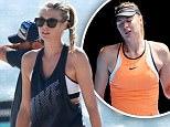 Maria Sharapova plays beach tennis with friends. Los Angeles, California