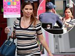 Pregnant Wag and star of ITVs The Real Housewives of Cheshire Tanya Bardsley seen leaving a Wilmslow Nailbar before catching up with Husband Stoke City footballer Phil for a spot of Lunch.\\n\\n*******EXCLUSIVE PICTURES*********