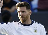 FILE - In this Monday, June 6, 2016, file photo, Argentina's Lionel Messi waves before the start of a Copa America Centenario Group A soccer match between Argentina and Chile at Levi's Stadium in Santa Clara, Calif. Messi will return to the field Friday night against Panama after being sidelined for his countryís Copa America opener by a back injury.  (AP Photo/ Marcio Jose Sanchez, File)