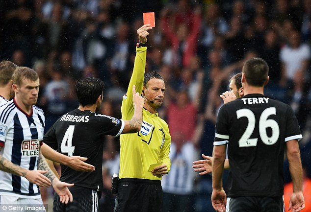 Geordie referee then sent off John Terry, which shows he was not affected by past incidents with Chelsea