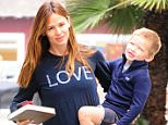 Picture Shows: Jennifer Garner, Samuel Affleck  June 08, 2016    Actress and busy mom Jennifer Garner is spotted out for breakfast with her son Samuel Affleck in Brentwood, California. Jennifer recently returned from London, where she and her children stayed with Ben Affleck while he works on 'Justice League'.    Non Exclusive  UK RIGHTS ONLY    Pictures by : FameFlynet UK © 2016  Tel : +44 (0)20 3551 5049  Email : info@fameflynet.uk.com