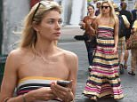 Jessica Hart and Bianca Brandolini D'Adda are seen shopping on June 09, 2016 in Capri, Italy. Photo BEESCOOP.COM exclusive