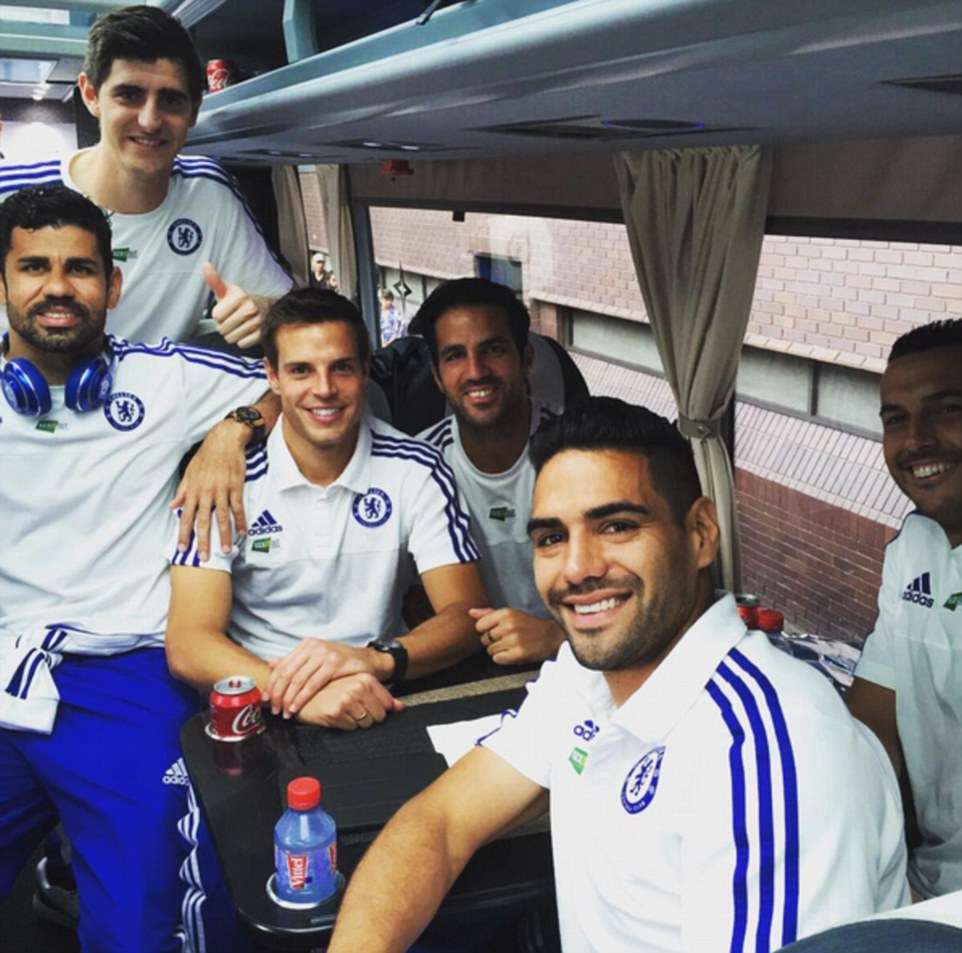 Azpilicueta posted this picture on Instagram of him and his team-mates on the coach home after the match