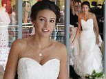 9.6.16...... Michelle Keegan films the BBC Drama Our Girl in a shopping centre in Lancashire on Thursday afternoon. Michelle is spotted buying a wedding dress at a shop called Petals Wedding Collection.