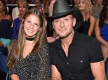 NASHVILLE, TN - JUNE 08: Musician Tim McGraw (R) and daughter attend the 2016 CMT Music awards at the Bridgestone Arena on June 8, 2016 in Nashville, Tennessee.  (Photo by John Shearer/Getty Images for CMT)