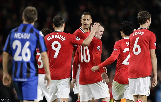Relief: After a hair-raising 90 minutes, Rooney (10) set the seal on victory