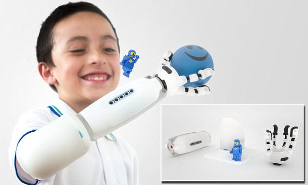 The prosthetic arm built with LEGO: Designer creates artificial limb that allows kids to