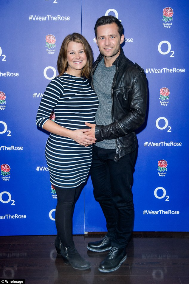 Date night: McFly's Harry Judd made it a date night with his pregnant wife Izzy, as they cosied up at the event