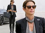 EXCLUSIVE TO INF\nJune 09, 2016: Cindy Crawford looks urban chic as she wears black patent boots and a scarf while making her way to a salon in Beverly Hills, California.\nMandatory Credit: Lazic/Borisio/INFphoto.com Ref: infusla-257/277