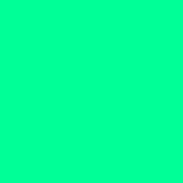 If you test it out yourself on Photoshop, you will find the colour's RBG code is R=0, G=255, B=150