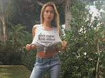 15m haileybaldwinLove my new #ActuallySheCan Tank! A portion of the proceeds go to AcademyWomen.org, available at @LeMotto #ad  https://www.instagram.com/p/BGco76BlDDP/?taken-by=haileybaldwin