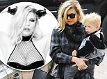 Mandatory Credit: Photo by Startraks Photo/REX/Shutterstock (5725324d)\nFergie Duhamel and Axl Duhamel\nFergie Duhamel out and about, Los Angeles, USA - 09 Jun 2016\nFergie Takes son Axl to School\n